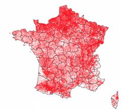 French dataset: population and GPS coordinates