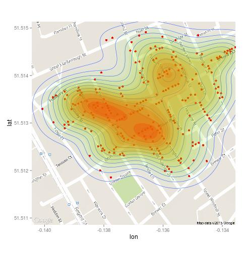 R Leaflet Density Map